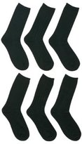 Merona® Crew Socks 6 Pk Black One Size 9-11