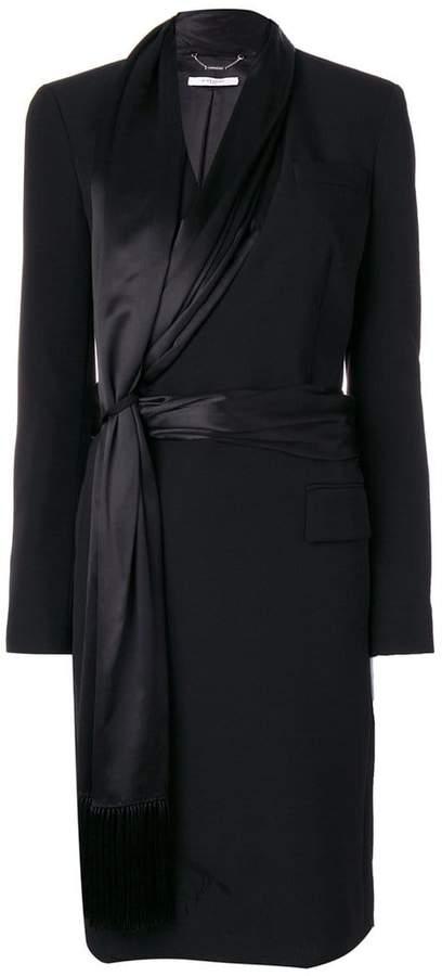 Givenchy asymmetric scarf trim coat