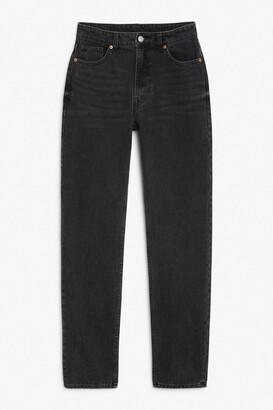 Monki Moluna washed black jeans