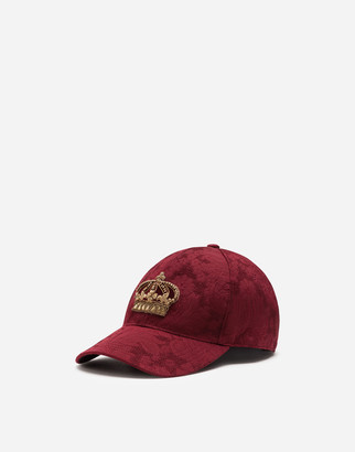 Dolce & Gabbana Jacquard Baseball Cap With Patch