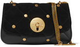 See by Chloe Lois Large Quilted Suede And Leather Shoulder Bag - Black