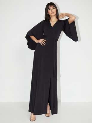 New York & Co. V-Neck Bell-Sleeve Kimono Maxi Dress - NY&C Style System