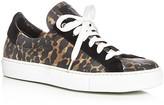 Belstaff Dagenham Leopard Print Lace Up Sneakers