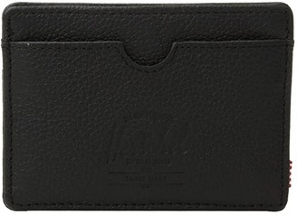 Herschel Charlie Leather RFID (Black Pebbled Leather 1) Wallet Handbags