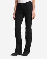 Eddie Bauer Women's StayShape® Bootcut Black Jeans - Curvy