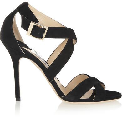 Jimmy Choo Lottie Suede Sandals - Black