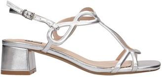 Bibi Lou Sandals In Silver Leather