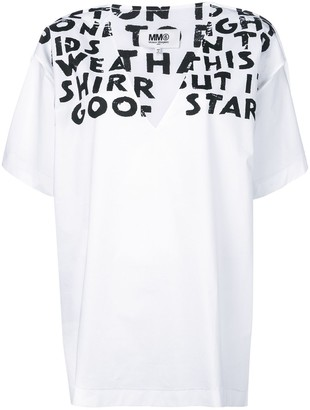 MM6 MAISON MARGIELA slogan detail T-shirt