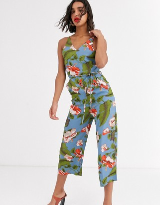 AX Paris v neck jumpsuit in light floral
