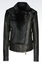 Emporio Armani Jacket In Pony Skin Effect Leather