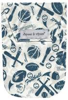 Diapees & Wipees Laminated Storage Bag with Wipes Case in Vintage Sports