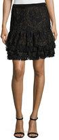 Elie Tahari Chantelle Ruffled Miniskirt, Black