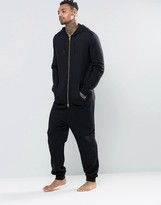 Asos Loungewear Onesie With Gold Zips