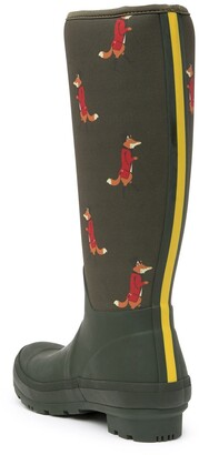 Joules Welly Fox Print Neoprene Tall Rain Boot