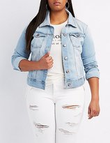 Charlotte Russe Plus Size Light Wash Denim Jacket