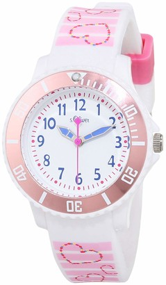 S'Oliver Unisex Child Analogue Quartz Watch with Silicone Strap SO-3762-PQ
