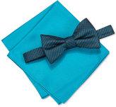 Alfani Men's Venus Neat Bow Tie & Solid Pocket Square Set, Only at Macy's