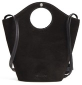 Elizabeth and James Small Market Leather & Suede Shopper - Black