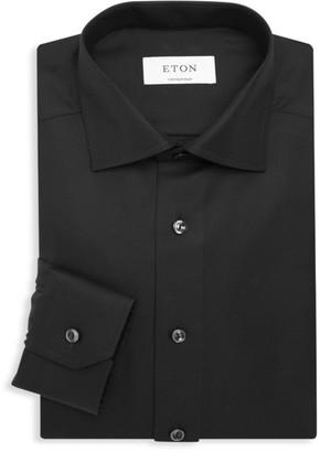 Eton Contemporary-Fit Diagonal Weave Dress Shirt