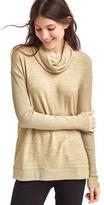 Gap Softspun marled cowl neck tunic