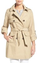 Vince Camuto Roll Sleeve Double Breasted Trench Coat