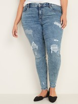 Old Navy High-Waisted Secret-Slim Pockets + Waistband Distressed Rockstar Jeans
