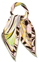 Emilio Pucci Wool Abstract Scarf