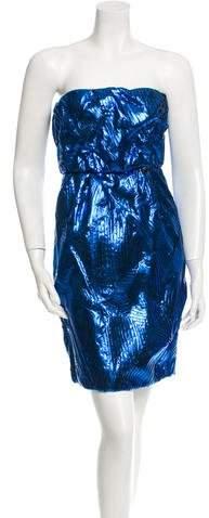 Chanel Metallic Strapless Dress