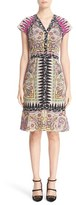 Etro Women's Ikat Paisley Print Silk Dress