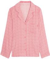 Calvin Klein Underwear Printed Voile Pajama Shirt - Blush