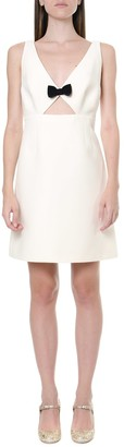 Miu Miu Crepe & Wool Ivory Short Dress