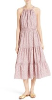 Rebecca Taylor Women's Meadow Floral Tie Back Tiered Sundress