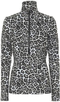 Goldbergh Lilja leopard-print ski top