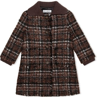 Dolce & Gabbana Kids Tweed Button-Front Coat