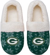Unbranded Women's Green Bay Packers Ugly Knit Moccasin Slippers