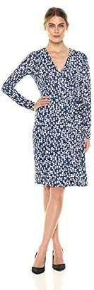 Lark & Ro Signature Long Sleeve Wrap DressUS S (EU S - M)