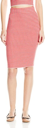 Jonathan Simkhai Women's Gingham Pencil Skirt