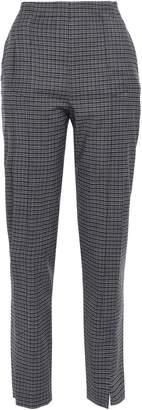 Cédric Charlier Checked Wool-blend Straight-leg Pants
