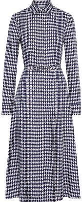 Gabriela Hearst Jane Pintucked Printed Silk-twill Midi Shirt Dress