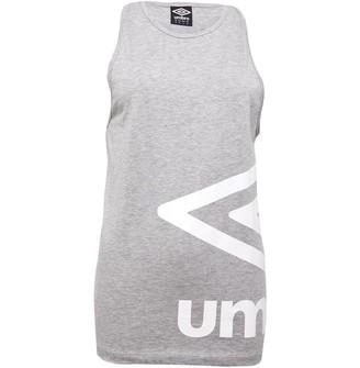 Umbro Womens Active Style Large Logo Vest Grey Marl/White