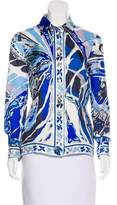 Emilio Pucci Silk Button-Up Top w/ Tags
