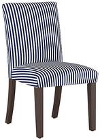 One Kings Lane Shannon Side Chair - Navy Stripe Linen