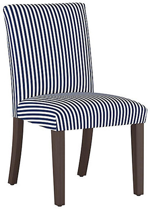 One Kings Lane Shannon Side Chair - Navy Stripe Linen