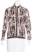 Michael Kors Bamboo Print Button-Up Top