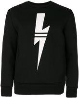 Neil Barrett lightning bolt sweatshirt - men - Viscose - S