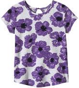 Joe Fresh Toddler Girls' Floral Tee, Purple (Size 3)
