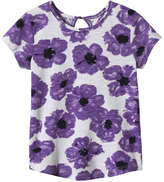 Joe Fresh Toddler Girls' Floral Tee, Purple (Size 4)