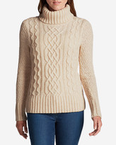 Eddie Bauer Women's Cable Turtleneck Sweater