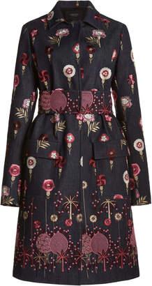 Giambattista Valli Floral Embroidered Denim Jacket