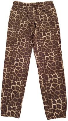 Michael Kors Brown Synthetic Trousers